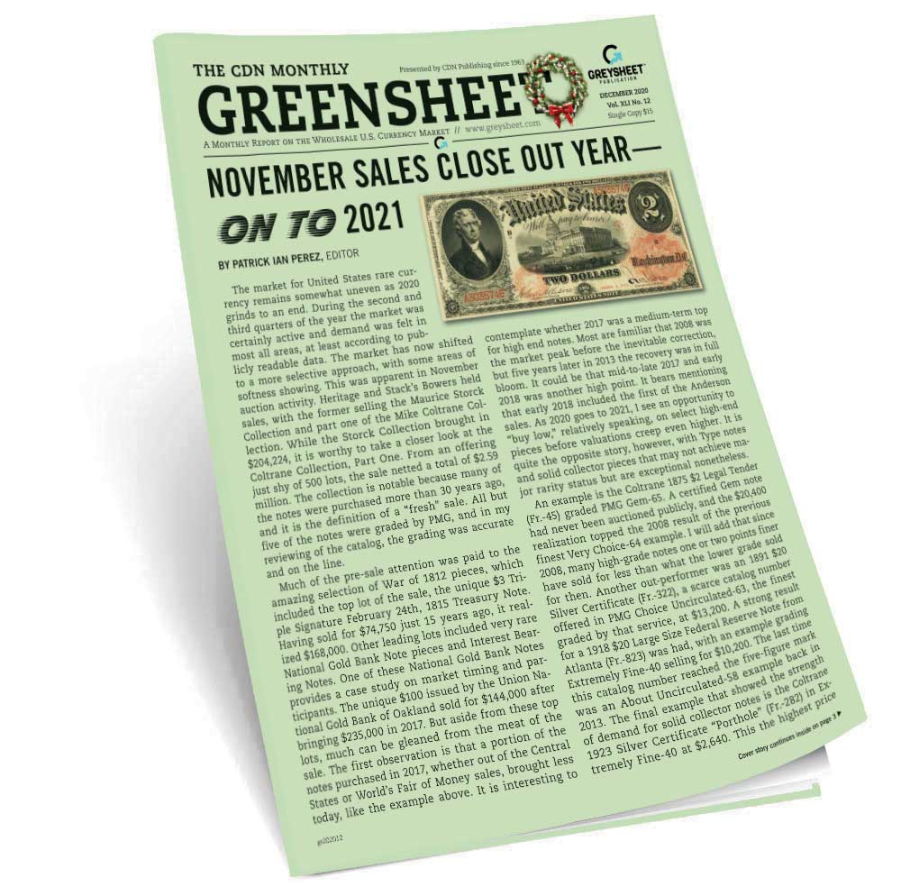 thumbnail image for November Sales Close Out Year -- Moving On to 2021 (December 2020 Greensheet)