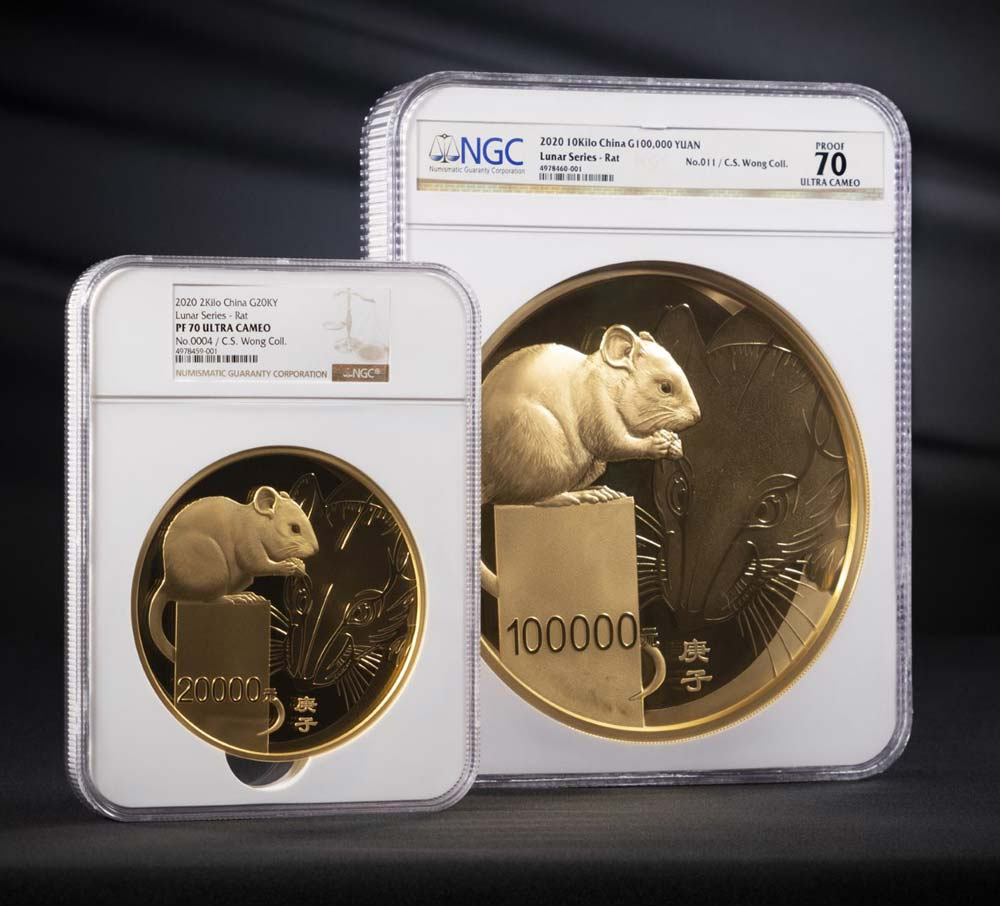 thumbnail image for NGC Certifies Enormous Gold Coins Celebrating the Year of the Rat