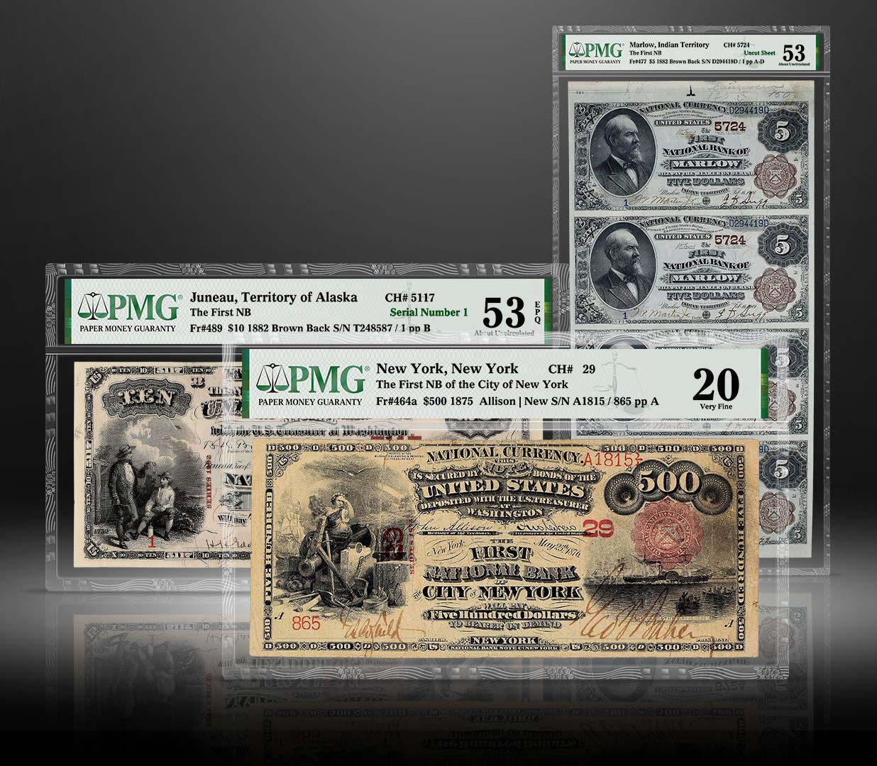 thumbnail image for PMG Certifies the Worlds Greatest Collection of National Bank Notes