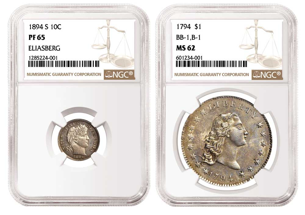 thumbnail image for NGC-certified 1894-S Barber Dime and 1794 Dollar Each Realize Over $1 Million in Stack's Bowers Sale