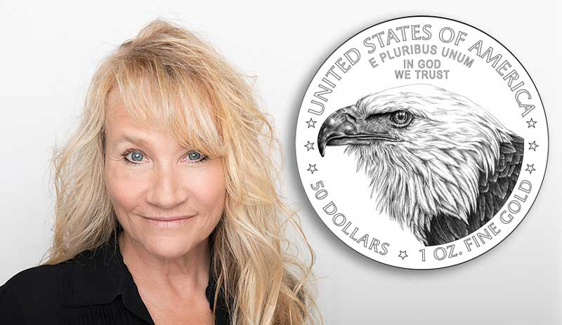 main image for NGC Signs Exclusive Signature Label Deal with Jennie Norris, Designer of the New American Gold Eagle Reverse
