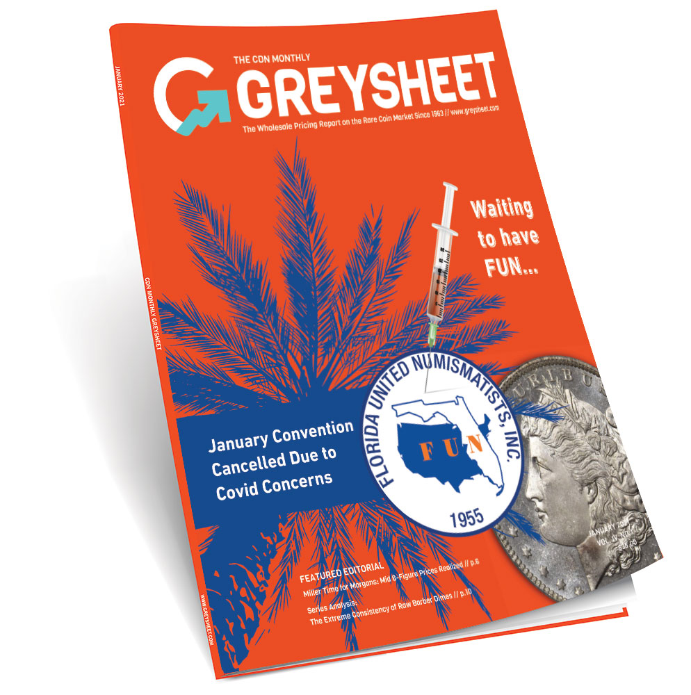 main image for The January Greysheet Publishers Report: FUN Cancelled, Market Predictions, PCGS Parent Company to Sell and More