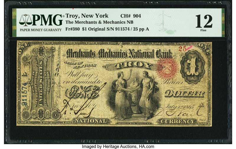 thumbnail image for Rare Currency Note From Beleaguered Bank Highlights New York State Paper Money Collection