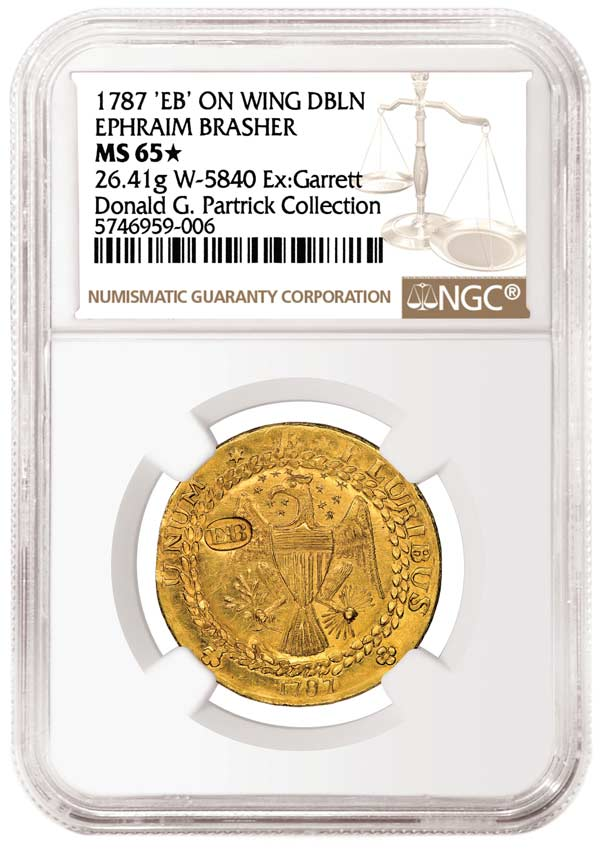 thumbnail image for NGC-certified Brasher Doubloon Realizes a Record $9.36 Million at Partrick Sale
