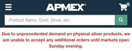 APMEX silver alert