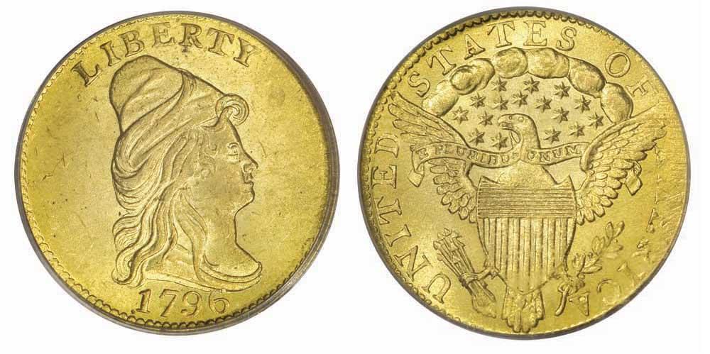 1796 $2 1/2 No Stars quarter eagle