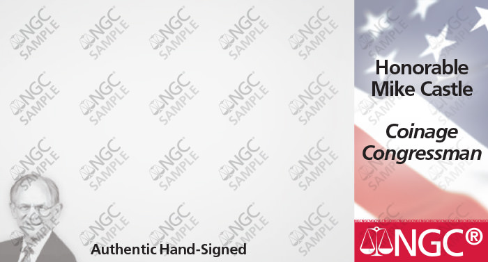 main image for NGC, Heritage and Coinage Congressman Mike Castle Agree to Exclusive Signature Label Deal