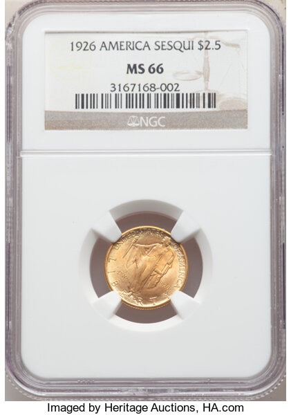 thumbnail image for A Pricing Analysis of the Sesqui $2.50 Gold Commem in MS66