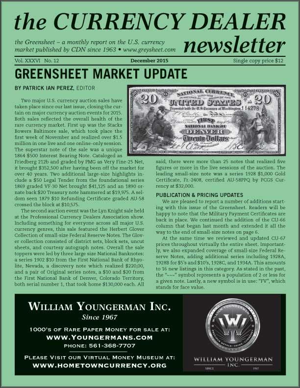thumbnail image for Market Update (Greensheet December 2015)