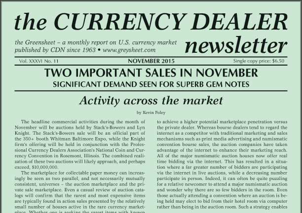 thumbnail image for Activity Across The Market: Two Important Sales in November (Greensheet November 2015)