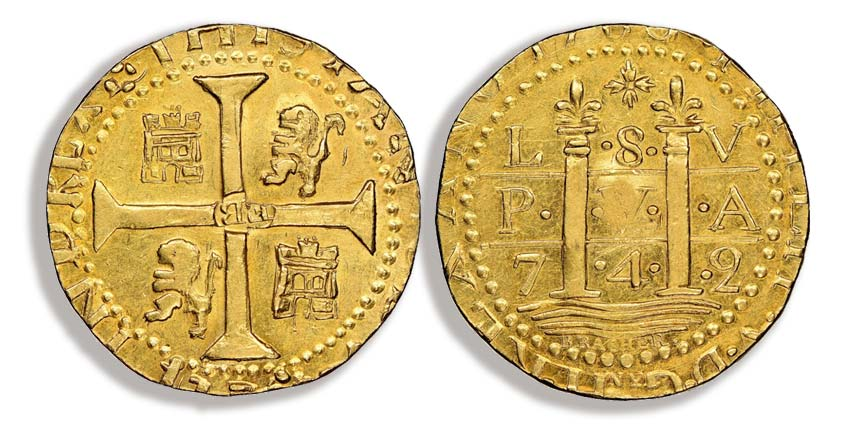 1786 Lima Style Brasher Doubloon