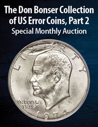 Event image for Heritage U.S. Coins The Don Bonser Collection of US Error Coins, Part 2