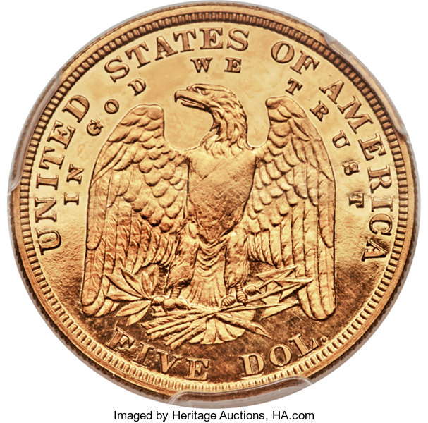 Unique Gold Pattern 1878 Liberty Head Half Eagle, Struck in Gold (Judd-1570) Featured in the Heritage CSNS Auction