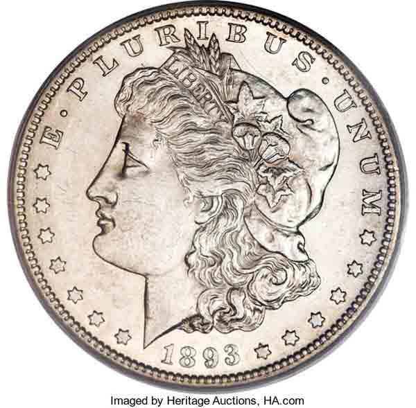 Morgan Dollar (Image courtesy of Heritage Auctions)