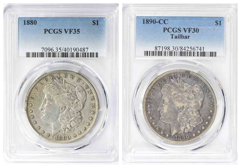 1880 1890 Morgan Silver Dollar
