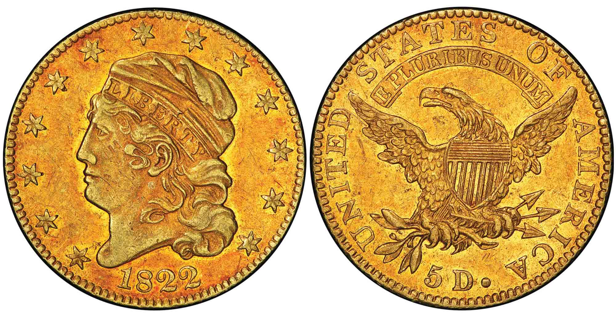 thumbnail image for Historic 1822 Half Eagle Sold for $8.4 Million in the Stack's Bowers Galleries March 2021 Auction: A New Auction Record