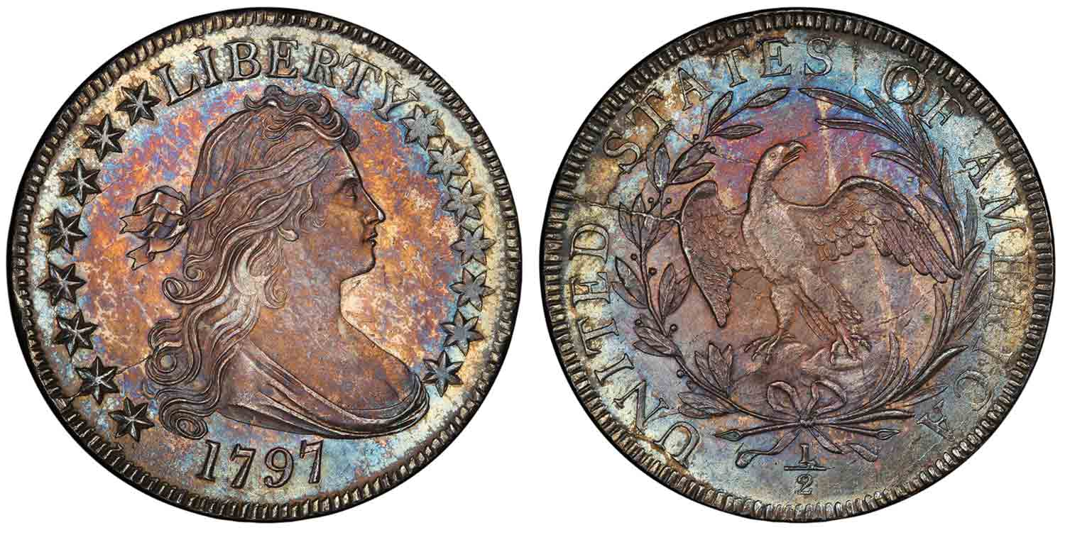 thumbnail image for 1797 Half Dollar Sold for $1.68 Million in the Stack's Bowers Galleries March 2021 Auction: Now The Most Valuable U.S. Half Dollar Ever Sold