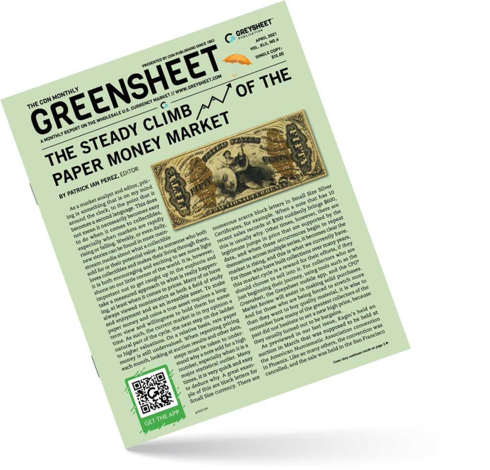 thumbnail image for April 2021 Greensheet Market Report: The Steady Climb of the Paper Money Market