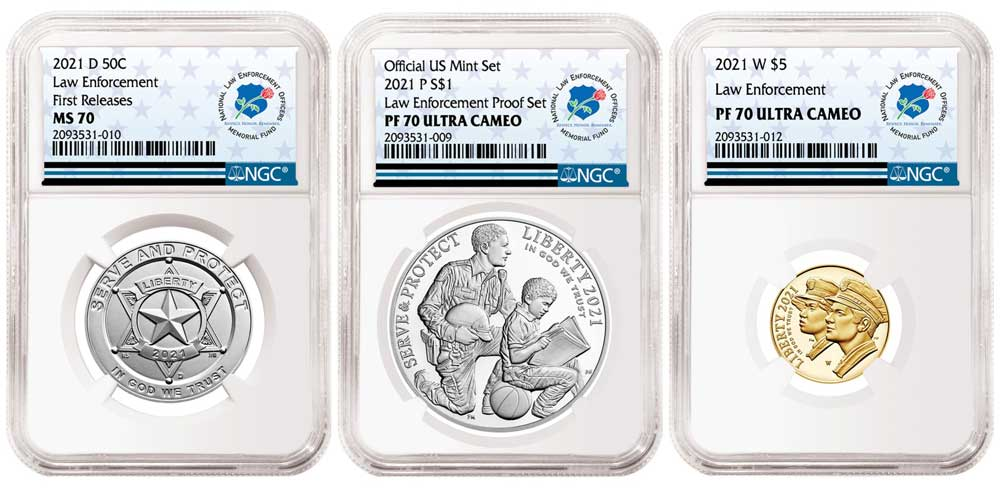 thumbnail image for NGC Announces Exclusive Partnership and Special Label for the 2021 National Law Enforcement Coins