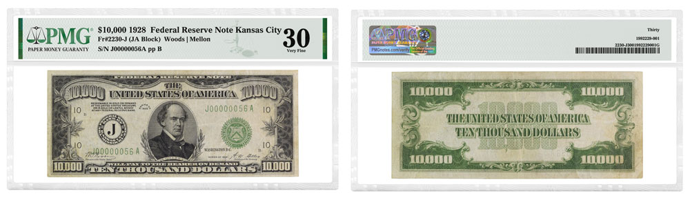 thumbnail image for PMG-graded $10,000 Federal Reserve Note Realizes a Record $456,000