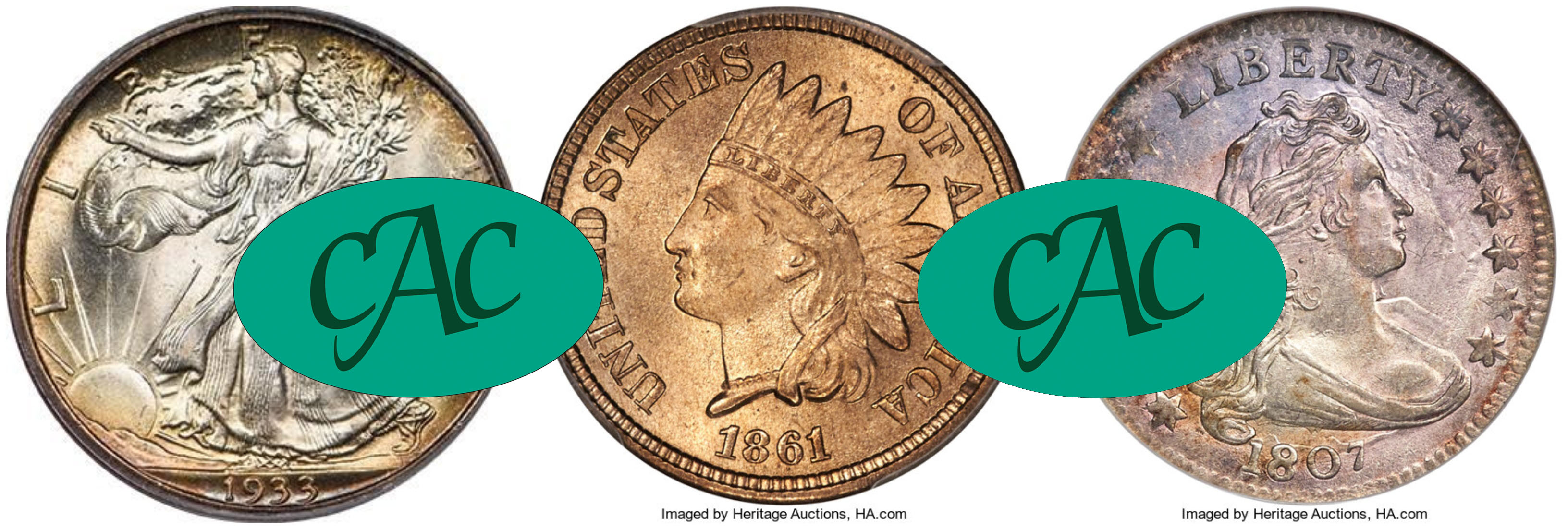 CAC approved coins outperformed other certified coins in live auctions in Las Vegas and Dallas.