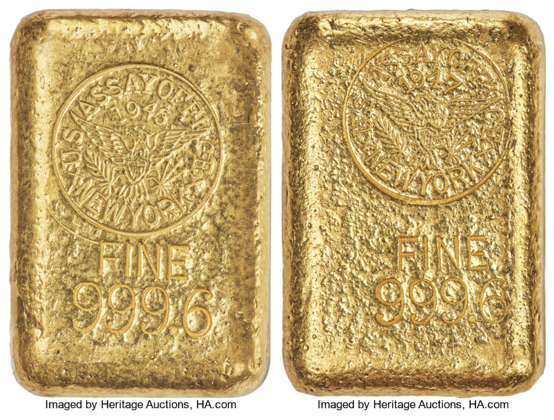 thumbnail image for Scarce and Enigmatic Gold Bars Highlight June Auction