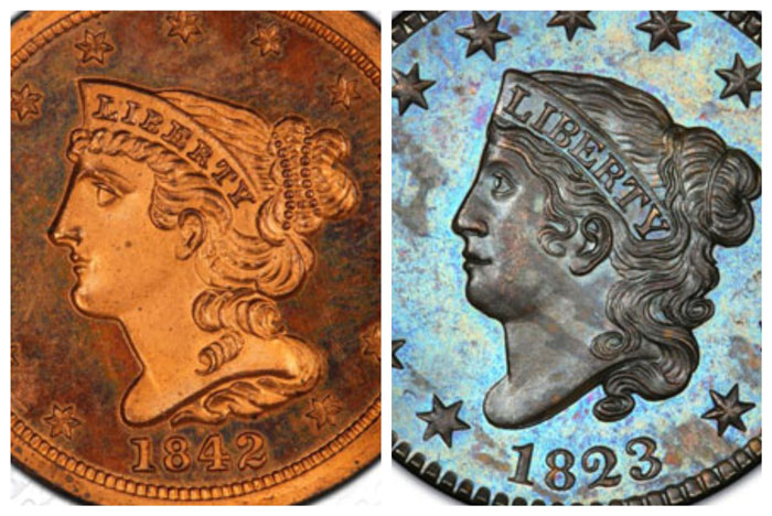 thumbnail image for DLRC Acquires ESM Proof Half and Large Cent Collections from Harlan J. Berk, Ltd