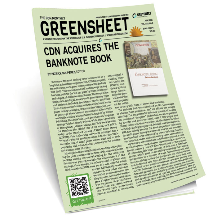 Cover of the June Greensheet