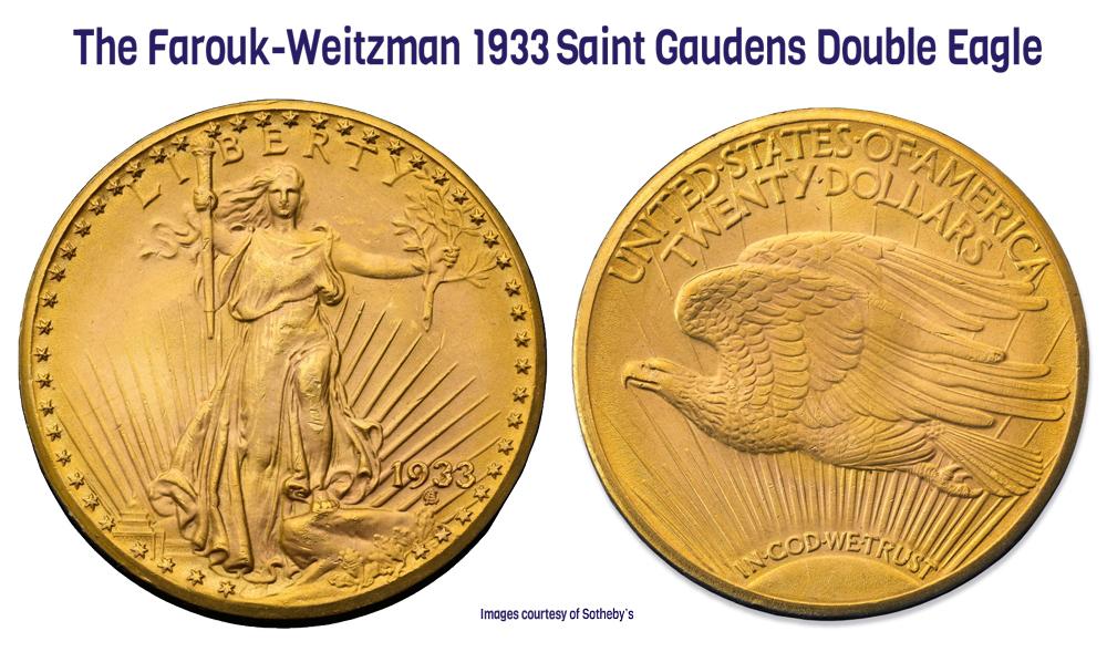 1933 Saint Gaudens double eagle from Stuart Weitzman collection