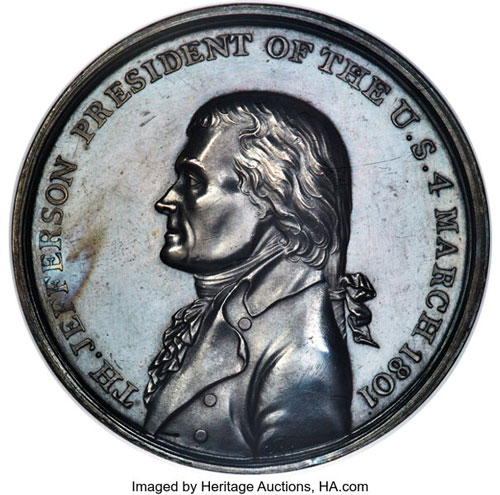thumbnail image for History Buffs Rejoice: Beautiful Thomas Jefferson Medal Comes To Auction