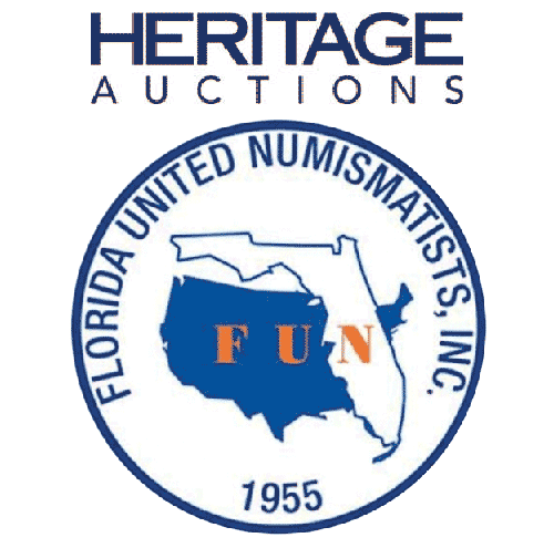Heritage Auctions and Florida United Numismatists, Inc. Logos
