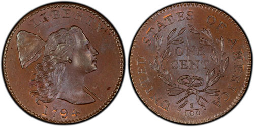 Lot 19 is a 1794 Sheldon-28 graded MS62BN with tremendous surfaces and eye-appeal