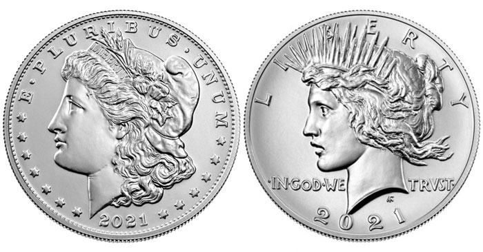 thumbnail image for Here's What You Need to Know About the New 2021 Morgan and Peace Silver Dollars