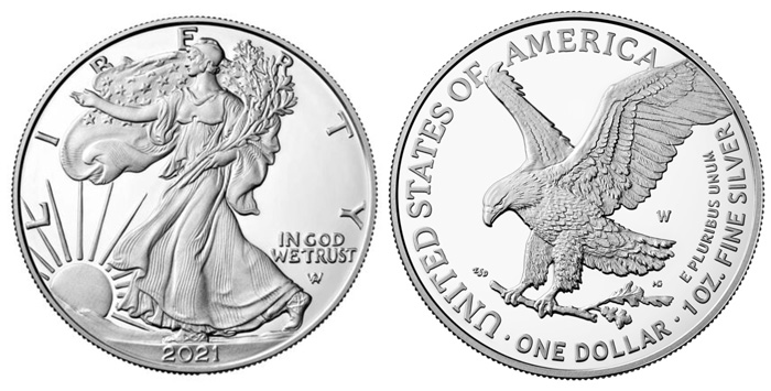 thumbnail image for Redesigned United States Mint 2021 American Eagle Silver Proof Coin Available July 20