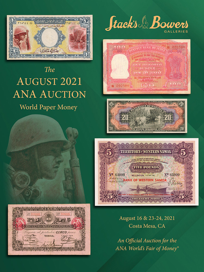 thumbnail image for Stack's Bowers Galleries Announces Their ANA World Paper Money Sale