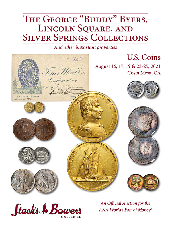 Stacks Bowers ANA Auction - Session 2 - The George Byers Collection of Jefferson Nickels