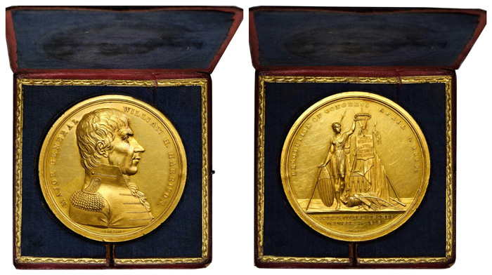 thumbnail image for Unique William Henry Harrison Congressional Gold Medal Offered in the Stack's Bowers Galleries Augusts 2021 ANA Auction