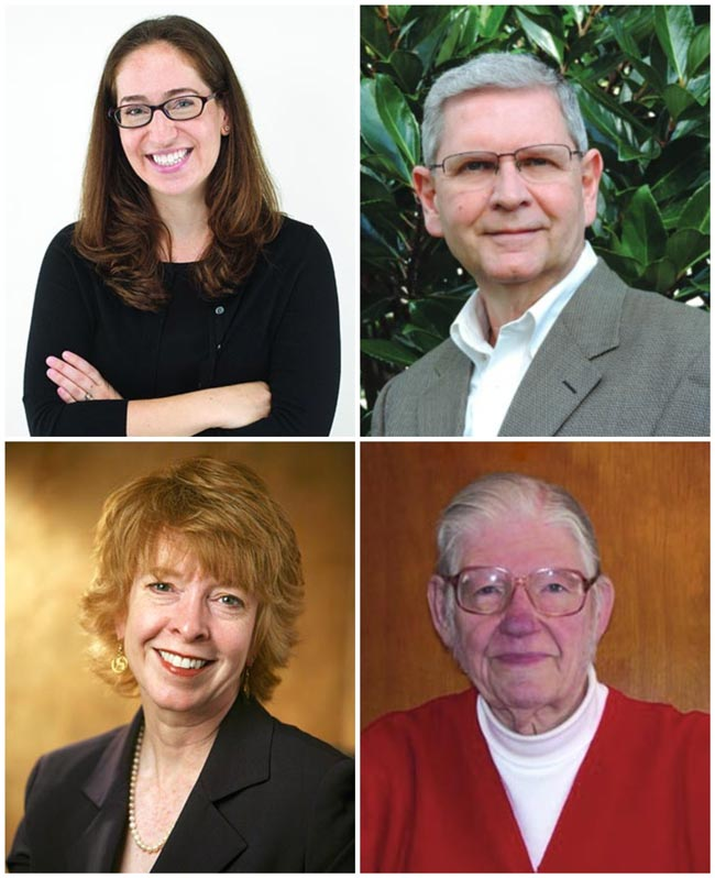 Ellen Feingold (top left), Robert Mellor (top right), Barbara Gregory (bottom left), Dick Johnson (bottom right)
