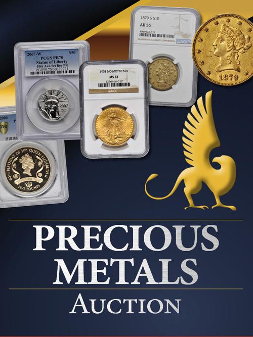 Stacks Bowers October Precious Metals Auction, Part 1
