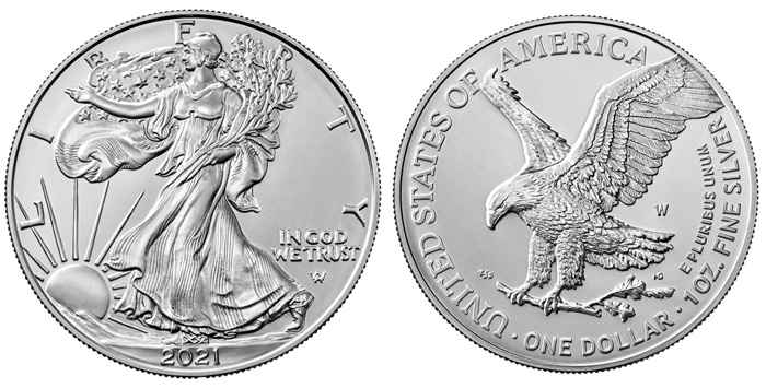 thumbnail image for United States Mint Redesigned 2021 West Point American Eagle Silver Uncirculated Coin Available on September 9