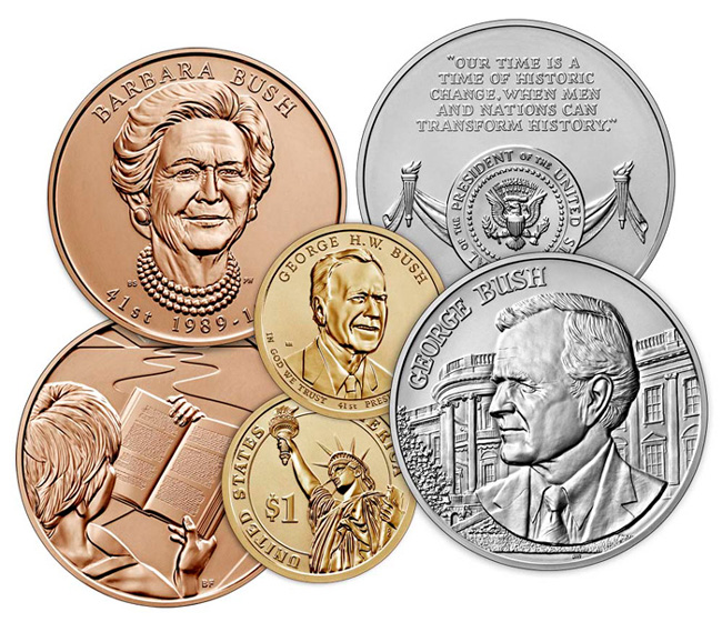 thumbnail image for George H.W. Bush Coin and Chronicles Set Available on September 17