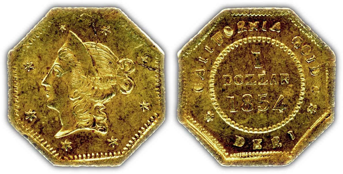 thumbnail image for New 1854 Period 1 California Fractional Gold Dollar Variety Discovered