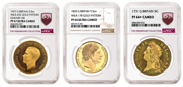 thumbnail image for NGC-certified Edward VIII Gold 5 Sovereign Realizes $2.45 Million,  a New Record for a British Coin at Auction